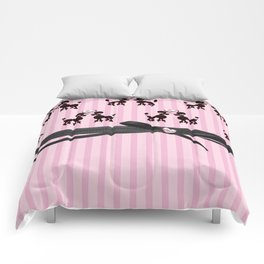 Poodles And Pink Hearts Comforters