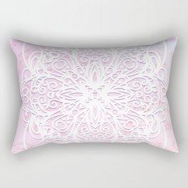Candyfloss Marble Mandala Rectangular Pillow