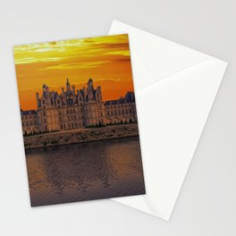 The castle of Chambord at sunset, Castle of the Loire, France Stationery Cards