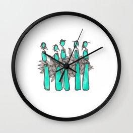 Teal People Wall Clock