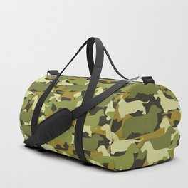 Camo Doxie in Green Duffle Bag