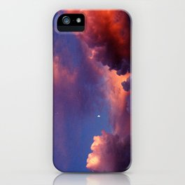 Moon in Sunset Clouds iPhone Case