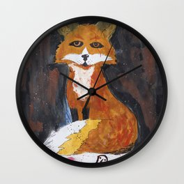 dark fox Wall Clock