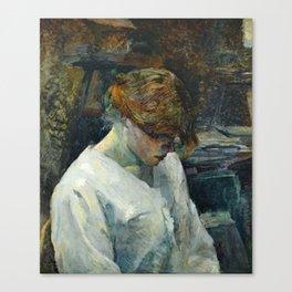 """Henri de Toulouse-Lautrec """"La Rousse in a White Blouse"""" Canvas Print"""