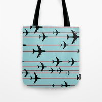 planes Tote Bags featuring Planes by Frances Roughton