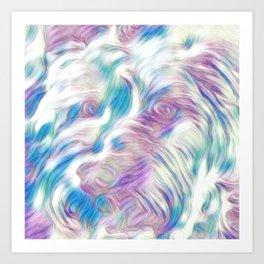 Pastel Penny the Yorkipoo art Art Print