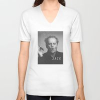 jack nicholson V-neck T-shirts featuring Jack / Nicholson by Earl of Grey
