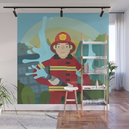 Firefighter Wall Mural