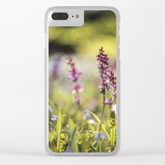 Spring flower meadow I - Beautiful flowers on #Society6 Clear iPhone Case