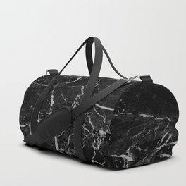 Marble Black Grunge texture Duffle Bag