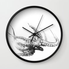 Octopus Rubescens Wall Clock