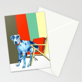Great Dane in Chair #1 Stationery Cards
