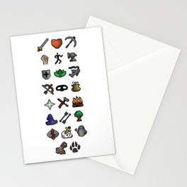 Old School Runescape Skills Stationery Cards