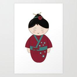 Kokeshi Doll Art Print