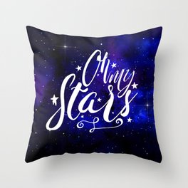 Oh My Stars Throw Pillow