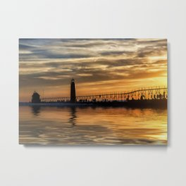 The Pier at Grand Haven Metal Print