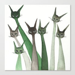 Castle of Cafaggiolo Whimsical Cats Canvas Print