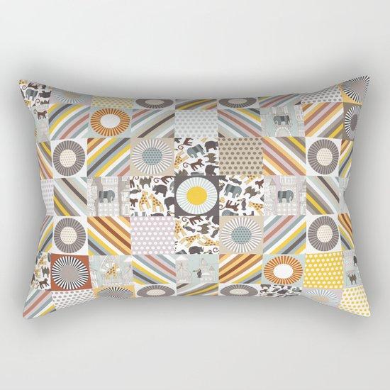 urban jungle squares Rectangular Pillow