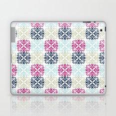 Floral Geometric - Navy & Pink Laptop & iPad Skin