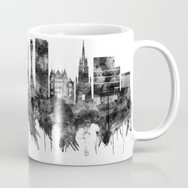 Edinburgh Scotland Skyline BW Coffee Mug