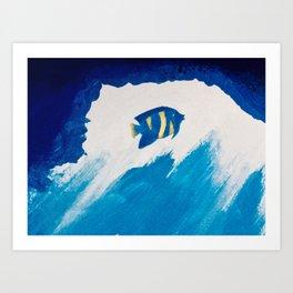 Fish in the sea Art Print