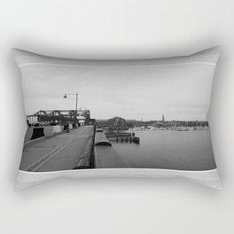 Across The World From Me Rectangular Pillow