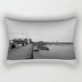 Across The World From Me Rectangular Pillow