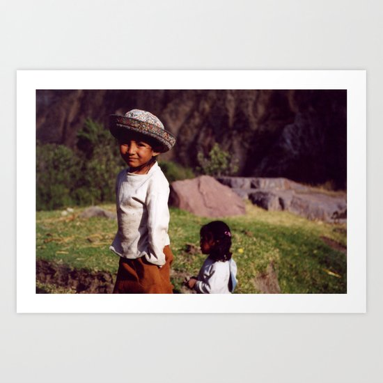Children of the Colca  Art Print