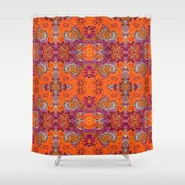 Boho Hippie Garden Pattern Shower Curtain