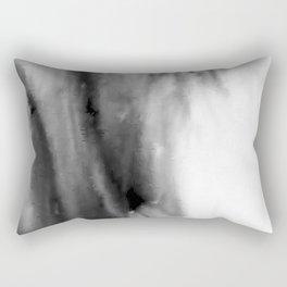 Black and White Distortion Rectangular Pillow