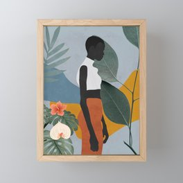 Tropical Girl 5 Framed Mini Art Print