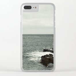 Watching the sea Clear iPhone Case