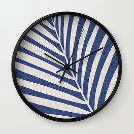 Indigo Palm - Vintage Botanical Wall Clock