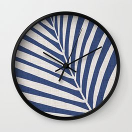Indigo Palm - Vintage Botanical Wall Clock