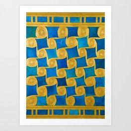 Rubino Greek Pattern Design Gifts Art Print