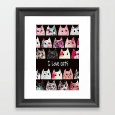 cat-48 Framed Art Print