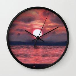 Mesmerized Wall Clock