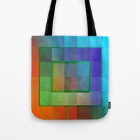aperture Tote Bags featuring Aperture #2 Fractal Pleat Texture Colorful Design by CAP Artwork & Design