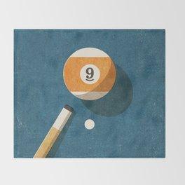 BILLIARDS / Ball 9 Throw Blanket