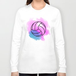 Volleyball Watercolor Long Sleeve T-shirt