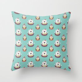 Holiday Warming (Patterns Please) Throw Pillow