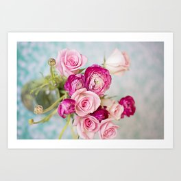 Bunches of Pink II Art Print