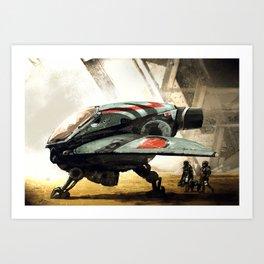Marine Shuttle 2134 Art Print