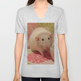 Pipes the Rat Smiling Unisex V-Neck