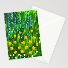 Lavender and Poppies Stationery Cards