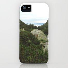 Beautiful lake of National Park High Tatras iPhone Case