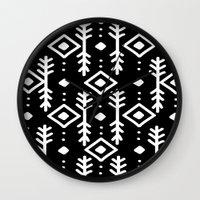 nordic Wall Clocks featuring BLACK NORDIC by Nika