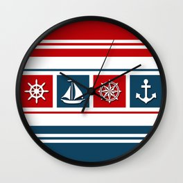 Nautical symbols Wall Clock