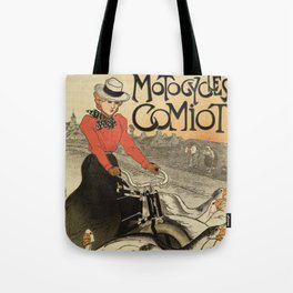 1899 vintage French motorcycle ad by Steinlen Tote Bag