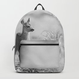 Baby Deer (Black and White) Backpack